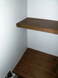 book walnut shelves