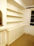 Merton fitted made to measure floating shelves